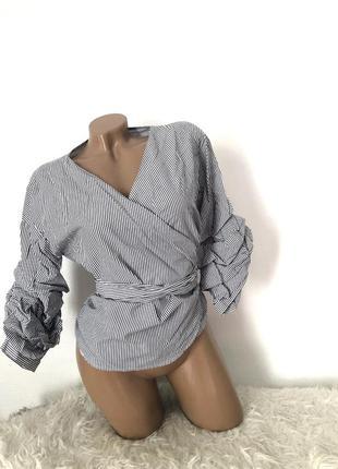 Нарядная блуза на запах