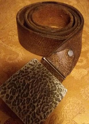Ремень мужской для джинс кожа крек левис