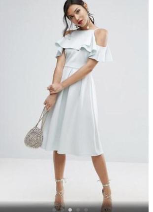 Нежное голубое платье asos