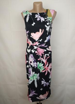 Платье новое модное эластичное в цветы от люкс бренда coast uk 12/40/m
