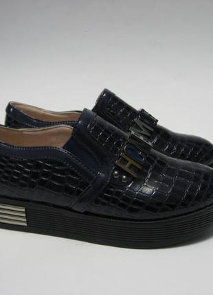 Туфли школьные р.31. синие. распродажа