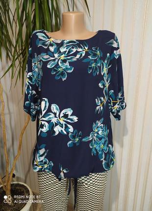Шикарная вискозная блуза на кулиске