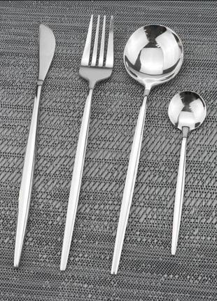 Набор 4шт  стильные столовые приборы