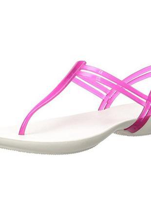 Босоножки crocs women's isabella t-strap flat sandal 38-39р-р