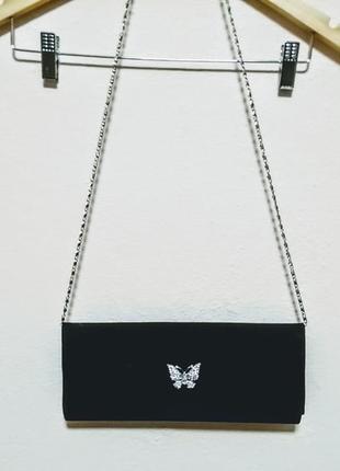 Бархатний клатч. сумочка на плече.