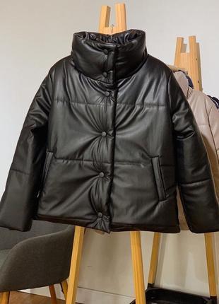 Куртка кожаная оверсайз💔 тренд 2020