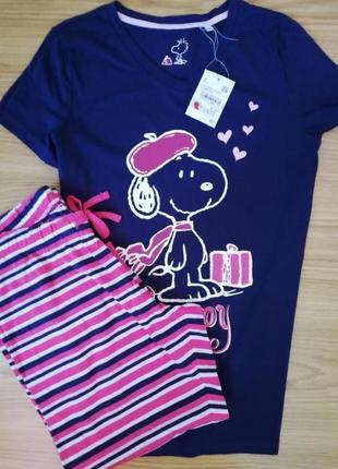 Пижама новая футболка капри набор для сна 36
