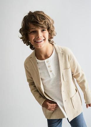 Трикотажный пиджак от zara, размеры, 9-12 лет