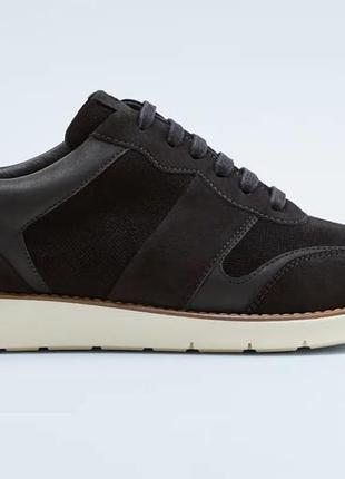 Мужские кожаные кроссовки zara, размер 43