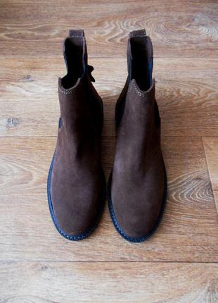 Новые ботинки h&m натуральная замша и кожа