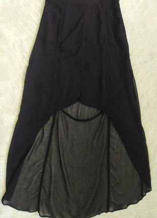 Прозрачная эффектная юбка