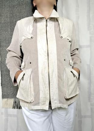 Элегантная летняя куртка, ветровка,  на молнии