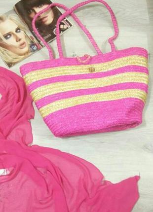 Женская плетенная сумка. летняя сумка. пляжная сумка.