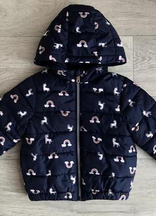 Демисезонная куртка primark 9-12-18 мес идеальное состояние