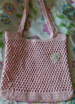 Новая вязаная сумка авоська ручной работы