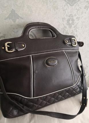 Большая стильная кожаная сумка da milano👜👜💥👑🔥