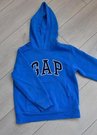 Синяя пайта толстовка с капюшоном пуловер 6-7 лет gap