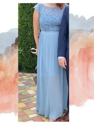 Hm платье небесно-голубое