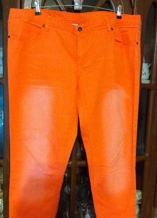Джинсы брюки скини бриджи капри укороченные штанишки 54-56р
