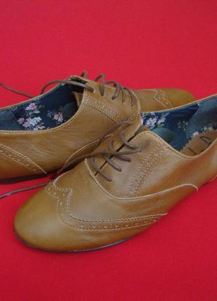 Туфли мокасины clarks натур кожа 40 размер