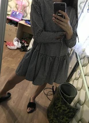 Платье парашют трендовое платье colins сарафан zara сукня бренд