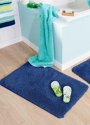 Шикарный антискользящий пушистый коврик в ванную от тсм tchibo (чибо), германия, 50*79 см