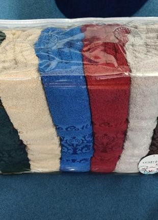 Турецький рушник махровий. полотенца махровые, пушистые баня 6 шт