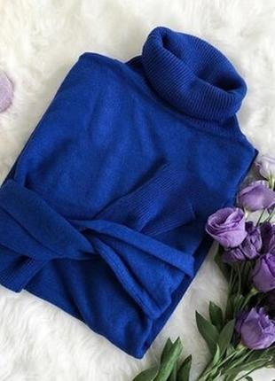 Гольф воротник под горло милано хит продаж свитер водолазка женская электрик синий