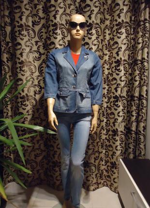 Burton( london) , джинсовый пиджак , р-р m-l