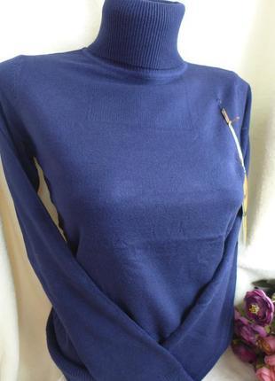 Гольф воротник под горло милано хит продаж свитер водолазка женская темно синий