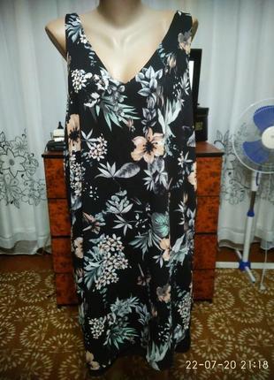 Платье в цветочный принт 20 р