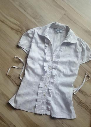 Школьная блузка с воланами