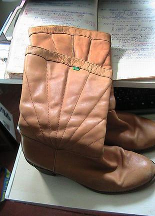 Сапоги кожаные 41-42р kickers стелька 27 см
