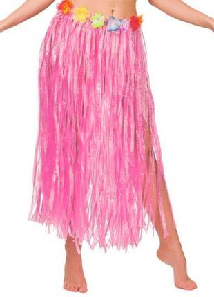 Гавайская юбка пау хула для гавайской вечеринки длина 75 см