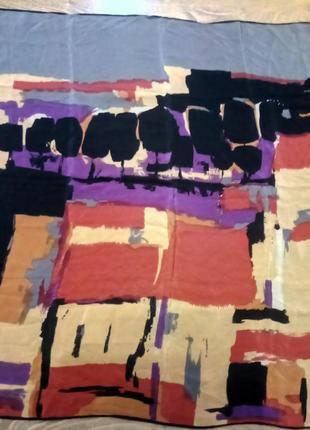 Красивый платок шелк абстракция подписной