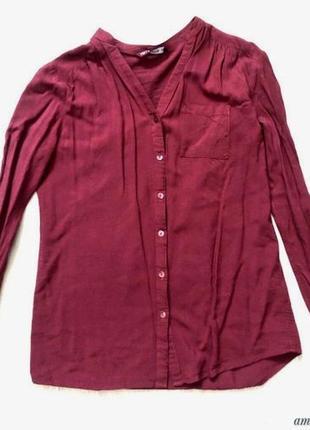 Бордовая рубашка terranova