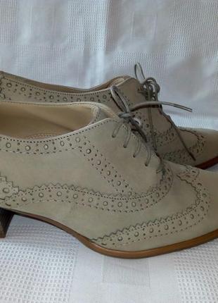 Roberto santi кожаные туфли р. 40 ст. 26 см
