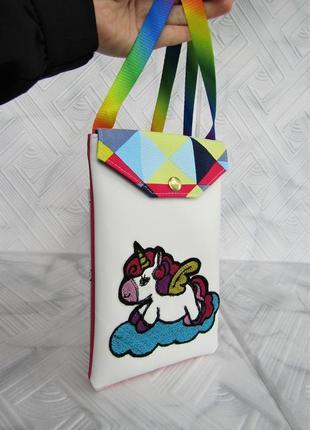 "Детская сумочка ""единорожек""  handmade"