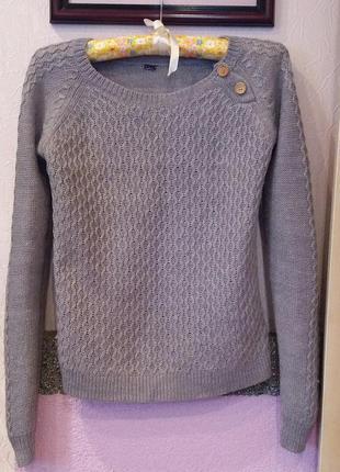 Стильный серый свитер h&m