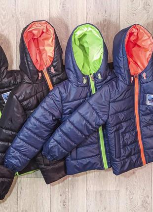 Детские и подростковые демисезонные двухсторонние куртки для мальчиков