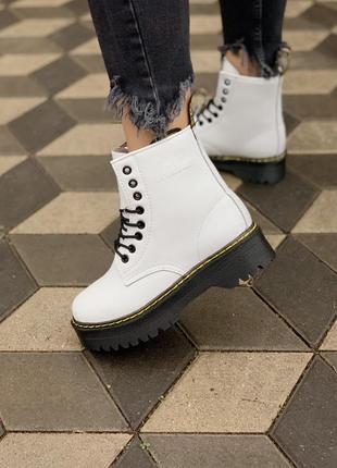 Dr. martens jadon 🆕 женские ботинки мартинс 🆕 белые/черные