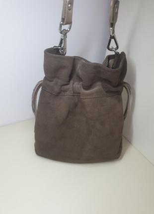 Брендовая сумка мешок шаейцарского бренда navyboot натуральная замша