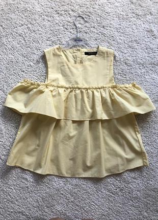 Блузка блуза з воланами кофта