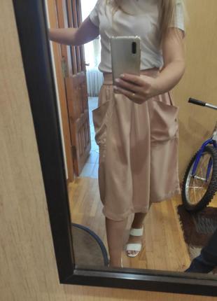 Класна стильна юбка спідниця миди міді