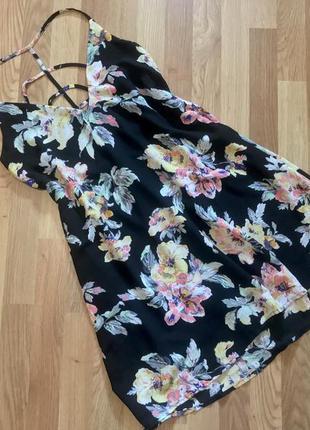 Сарафан с цветами с красивой спинкой boohoo