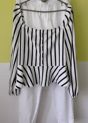 Кофта кофточка блуза в полоску от h&m