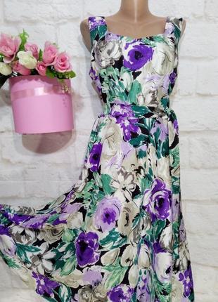 Платье миди 100% натуральный шелк р  16-18 alex&co