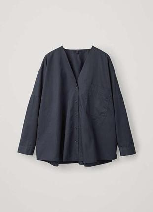 Хлопковая блуза cos рубашка