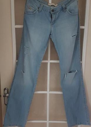 Рваные прямые джинсы мотор w30l34.