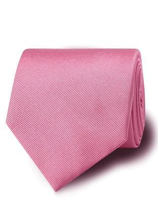 Крутой розовый галстук pink ottoman silk tie с биркой оригинал